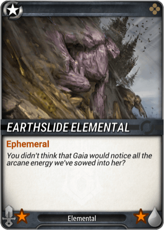 Earthslide Elemental Token