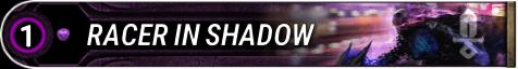 Racer In Shadow